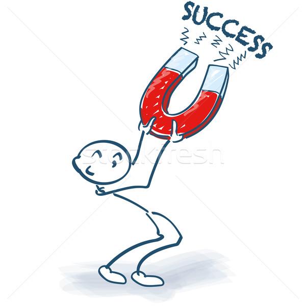 Magneet succes business informatie tekening Stockfoto © Ustofre9