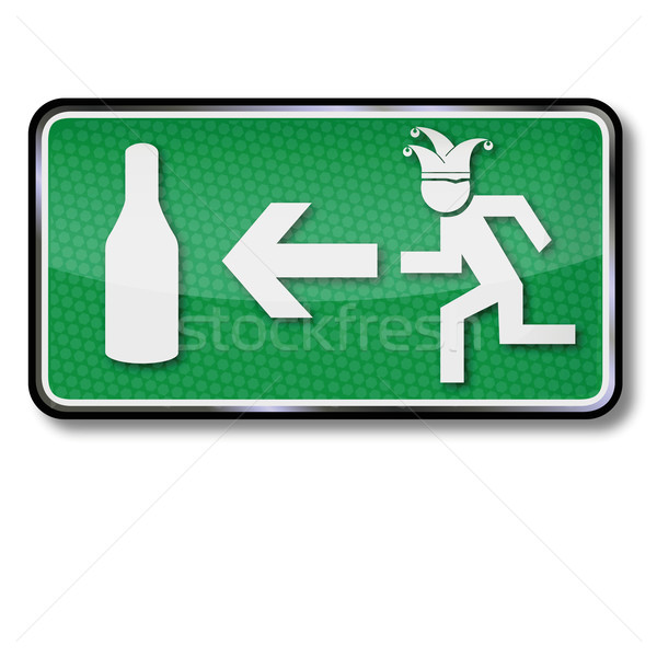 Emergency exit for drunken people and Carnival Stock photo © Ustofre9