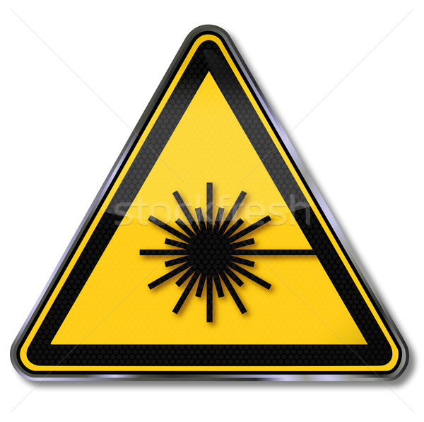 Danger sign laser Stock photo © Ustofre9