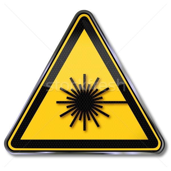 Señal de peligro láser médico luz signo disco Foto stock © Ustofre9
