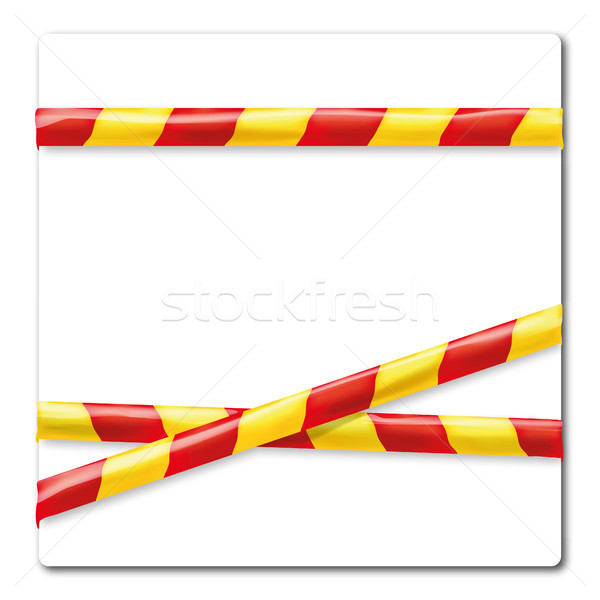 Barrier tape yellow and red Stock photo © Ustofre9