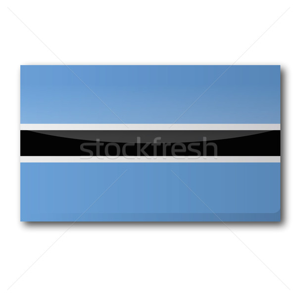 Stock photo: Flag Botswana