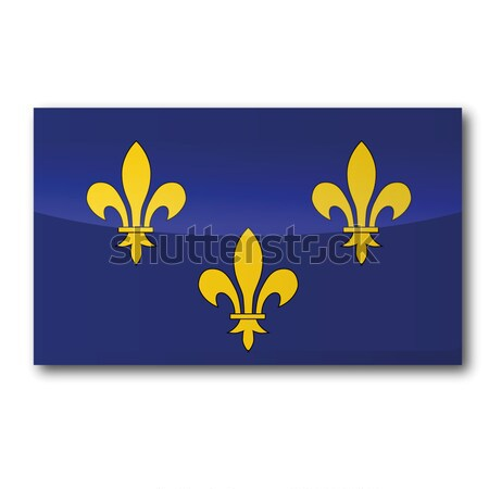 Button Flag Ile-de-France Stock photo © Ustofre9
