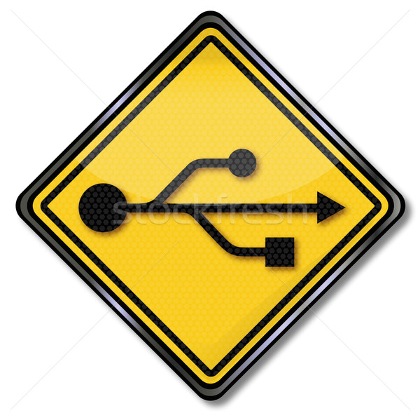 Sign usb connector Stock photo © Ustofre9