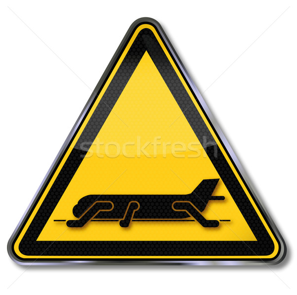Sign aircraft emergency exits  Stock photo © Ustofre9