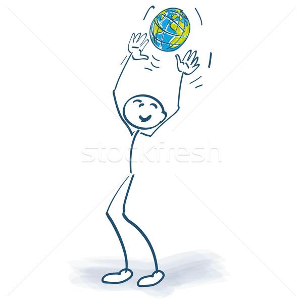 Stick figure мира Мир целевой играть игры Сток-фото © Ustofre9