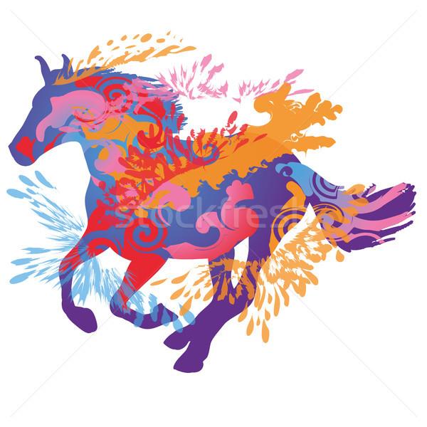 Galloping horse Stock photo © Ustofre9