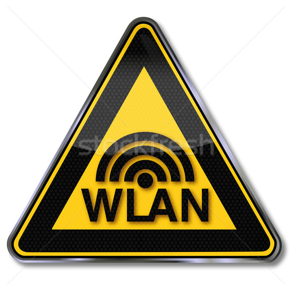 Sign wireless transmitter, wlan, and contact Stock photo © Ustofre9