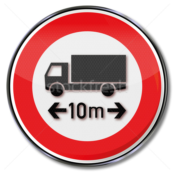 Traffic sign maximum truck length 10 meters Stock photo © Ustofre9
