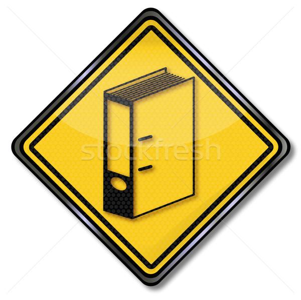 Zeichen Dateien Schreibtisch Arbeit Papierkram Büro Stock foto © Ustofre9