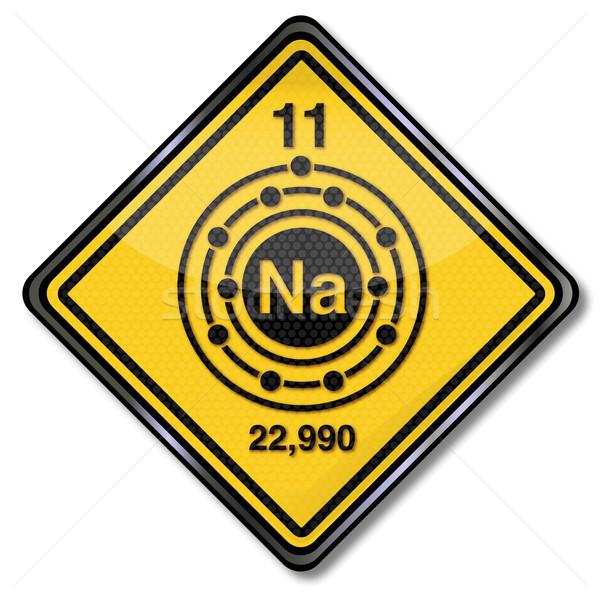 знак химии характер натрий металл признаков Сток-фото © Ustofre9