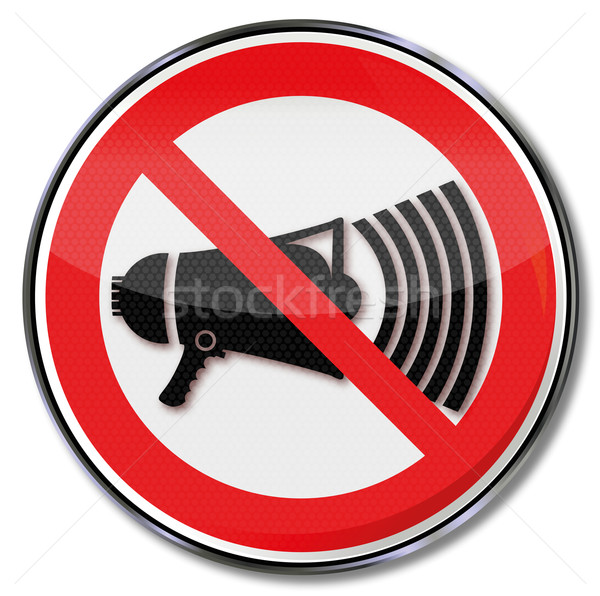 Prohibition sign with megaphone Stock photo © Ustofre9