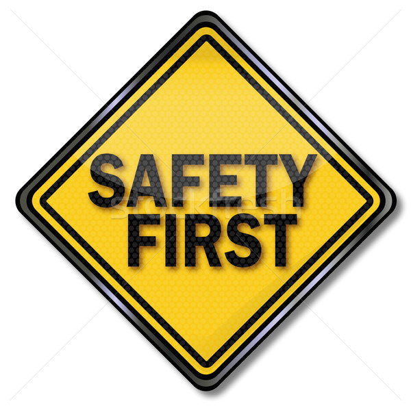 Sign safety first  Stock photo © Ustofre9