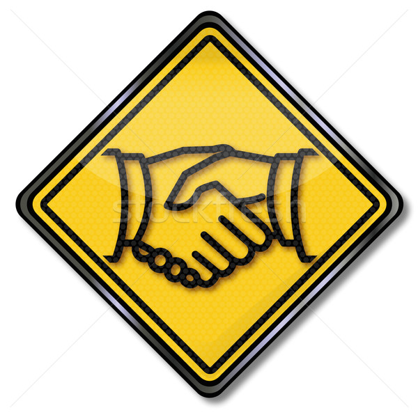 Sign handshake and friendship  Stock photo © Ustofre9