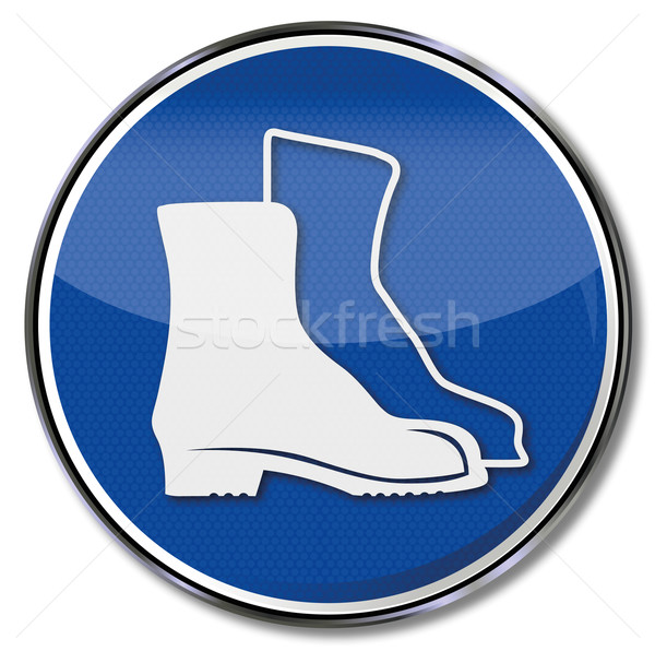Safety sign safety shoes Stock photo © Ustofre9