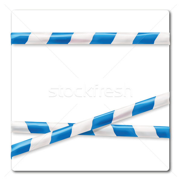 Barrier tape  blue and white Stock photo © Ustofre9