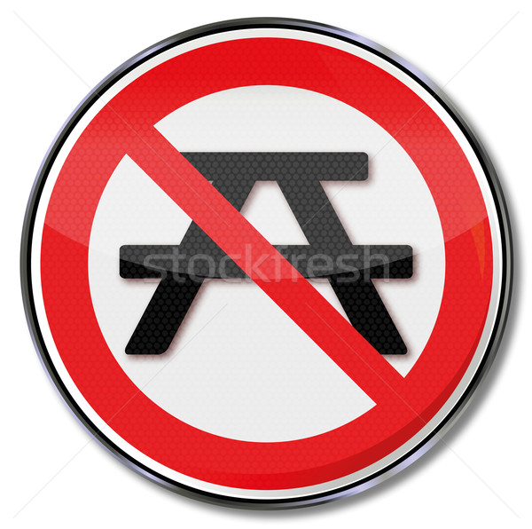 Prohibition sign here is no resting place Stock photo © Ustofre9
