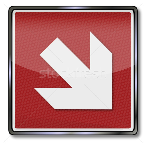 Fire safety sign right arrow below Stock photo © Ustofre9