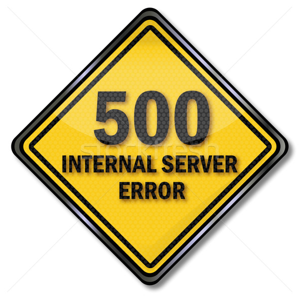Stock photo: Computer sign 500 internal server error