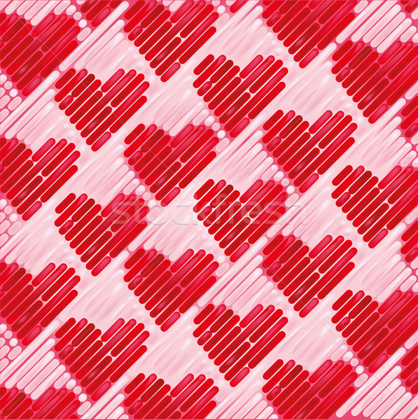 Pink fabric with small hearts Stock photo © Ustofre9