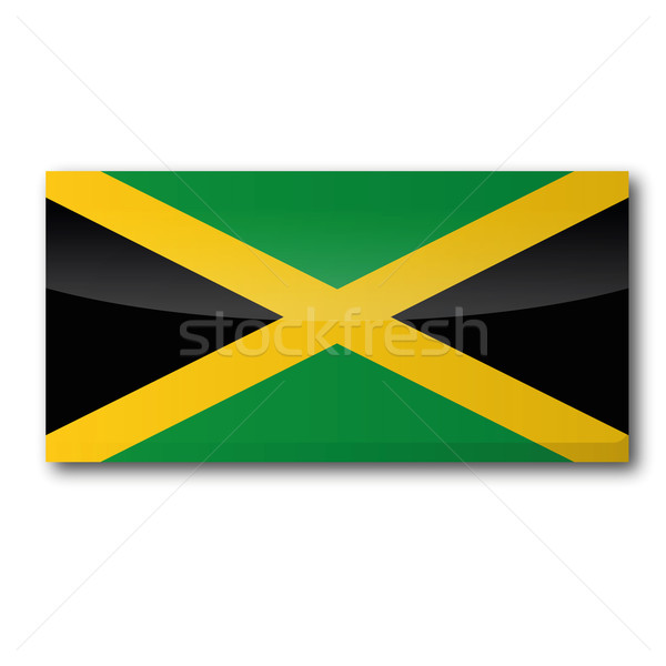 Flag Jamaica Stock photo © Ustofre9