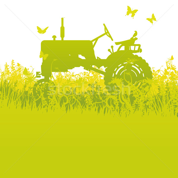 Tractor at the harvest Stock photo © Ustofre9