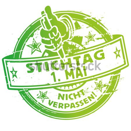 Rubber stamp with dance into the may Stock photo © Ustofre9