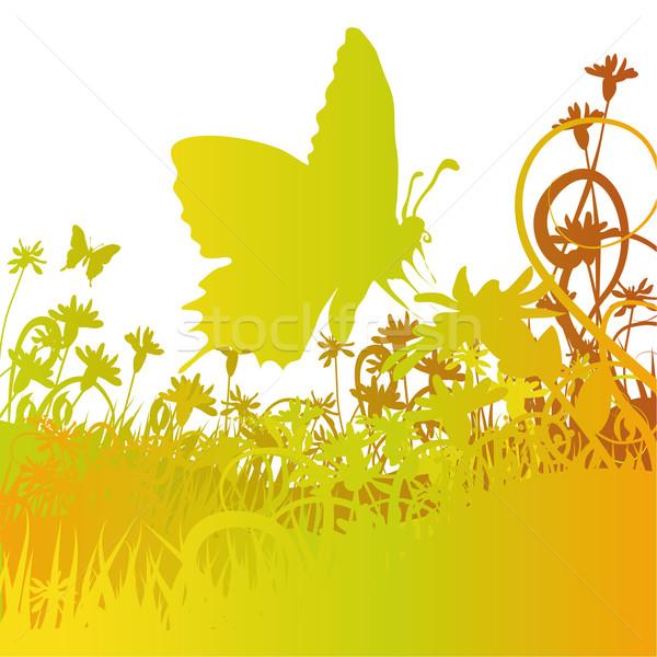 Stockfoto: Vlinder · bloem · Pasen · gras · natuur · landschap