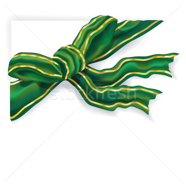 Groene lint gouden voorjaar verjaardag Stockfoto © Ustofre9