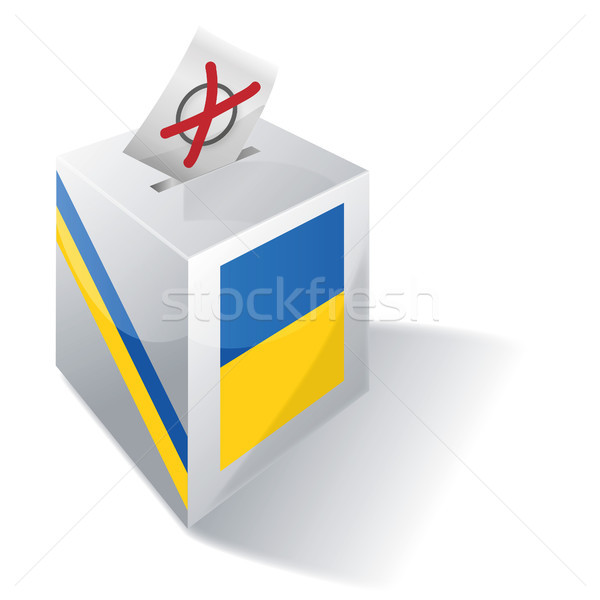 Ballot box Ukraine Stock photo © Ustofre9