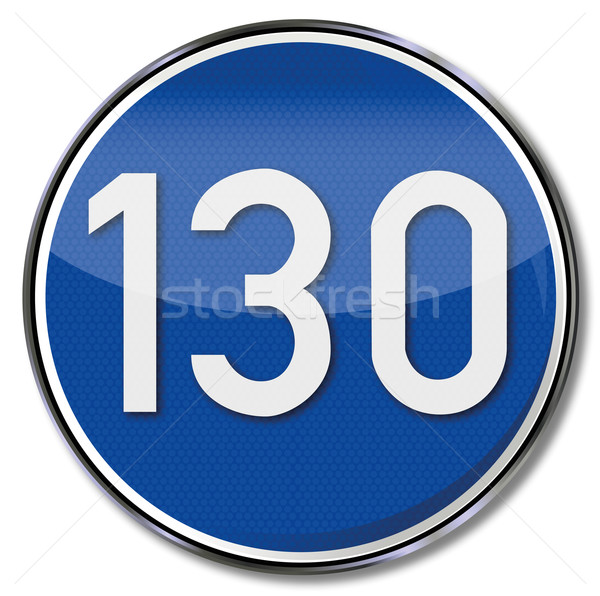 Directional road sign speed 130 kmh Stock photo © Ustofre9