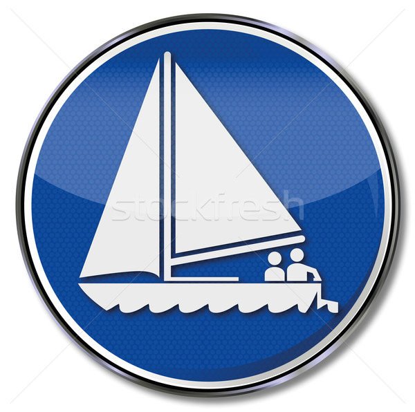 Sign sailboat, sailing and sailing club Stock photo © Ustofre9