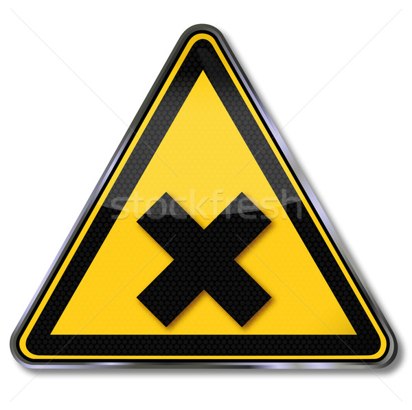 Danger sign warning of harmful substances Stock photo © Ustofre9