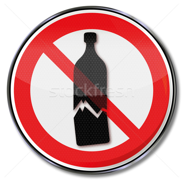 Prohibition sign warning of possible glass breakage and sensitive goods  Stock photo © Ustofre9