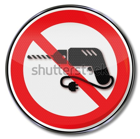 Prohibition sign for people with wings and dreams Stock photo © Ustofre9