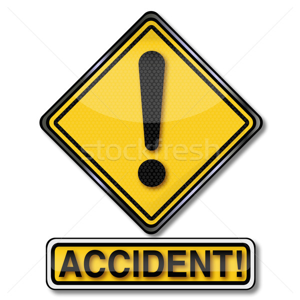 Sign with call sign and accident Stock photo © Ustofre9