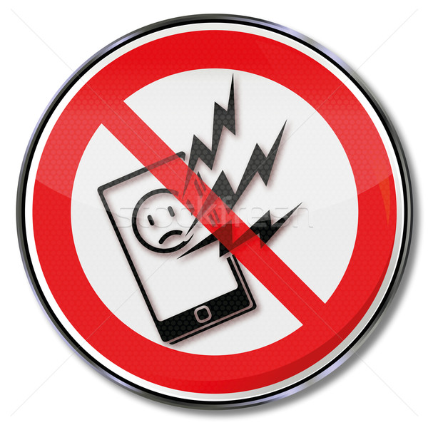 Prohibition sign for smartphone and no net  Stock photo © Ustofre9