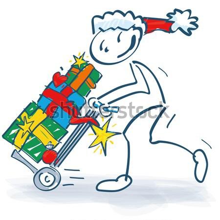 Stick figure сани многие Рождества пакеты Сток-фото © Ustofre9