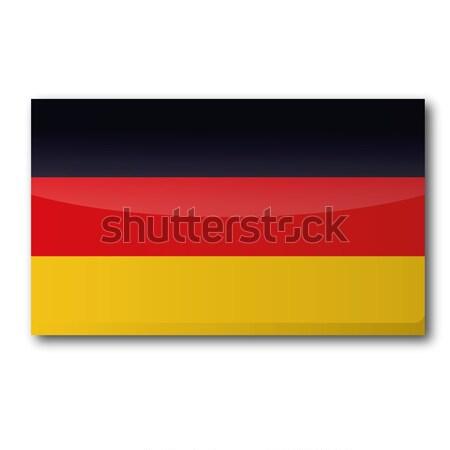 Bandera Alemania mapa tarjeta país botón Foto stock © Ustofre9