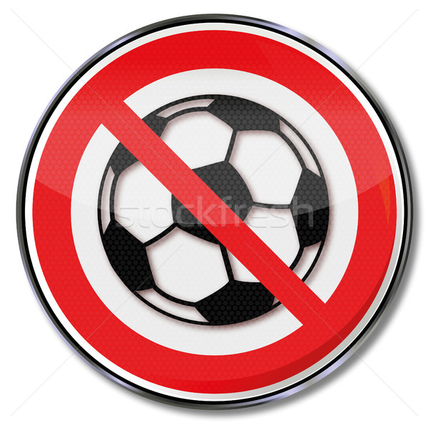 Prohibition sign for the football game Stock photo © Ustofre9