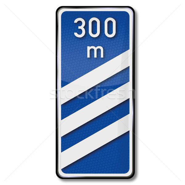 Verkeersbord bakken afstand straat teken verkeer Stockfoto © Ustofre9