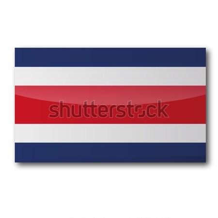 Bandera Costa Rica mapa país mapas botón Foto stock © Ustofre9
