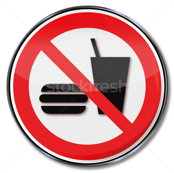 Prohibition sign food and drinks are prohibited  Stock photo © Ustofre9