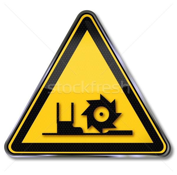Danger sign warning auger Stock photo © Ustofre9