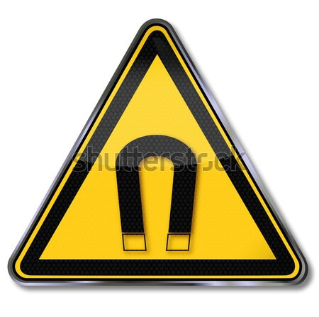 Danger sign warning of obstacles in the head area  Stock photo © Ustofre9