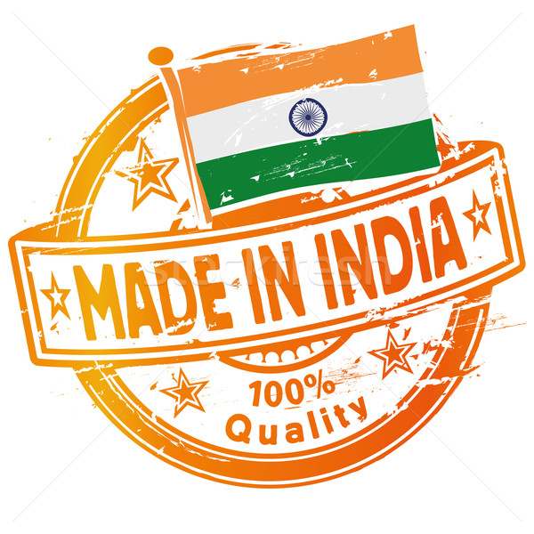 Rubber stamp made in India Stock photo © Ustofre9
