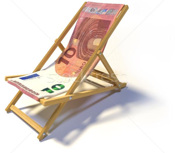 Sedia a sdraio dieci euro business soldi relax Foto d'archivio © Ustofre9