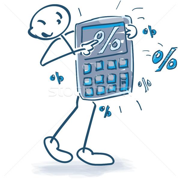 Bolsillo calculadora porcentajes negocios financiar Foto stock © Ustofre9