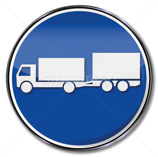 Shield with trailer and small biaxial trailer Stock photo © Ustofre9