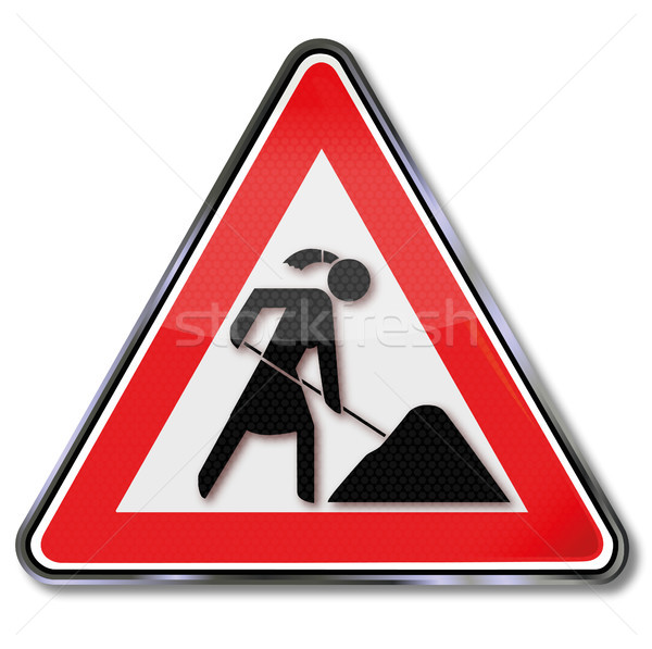 Sign woman work Stock photo © Ustofre9